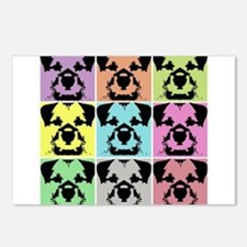 Border Terrier a la Warhol 4 Postcards (Package of