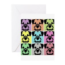 Border Terrier a la Warhol 4 Greeting Cards (Pk of