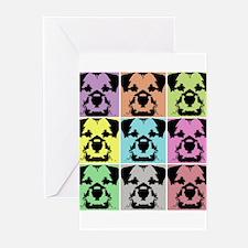 Border Terrier a la Warhol 4 Greeting Cards (Pk of