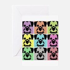 Border Terrier a la Warhol 4 Greeting Card