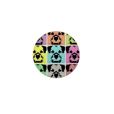 Border Terrier a la Warhol 4 Mini Button