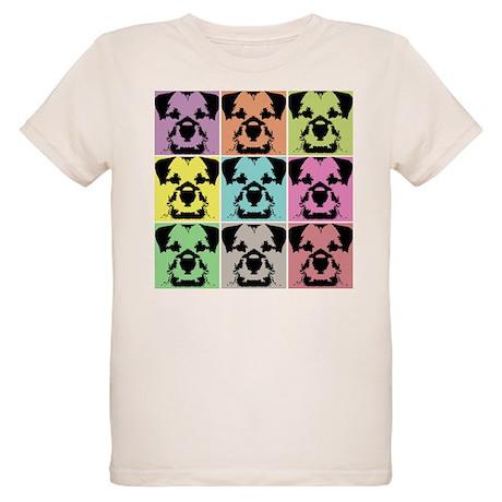 Border Terrier a la Warhol 4 Organic Kids T-Shirt