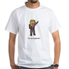 Explorer Donald Front-and-Back White T-Shirt