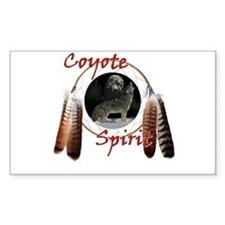 Coyote Spirit Rectangle Decal