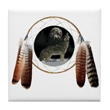 Coyote Spirit Tile Coaster