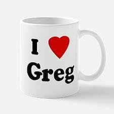 I Love Greg Mug