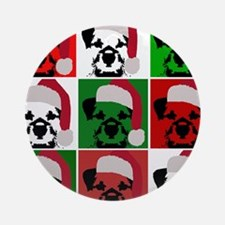 Holiday Pop Art Ornament (Round)