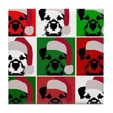 Holiday Pop Art Tile Coaster