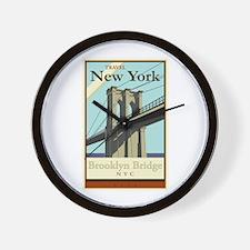 Travel New York Wall Clock
