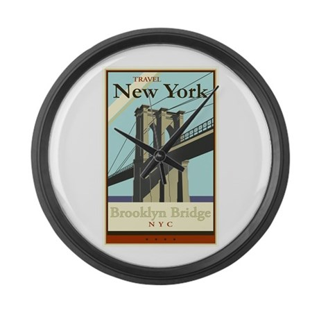 Travel New York Large Wall Clock