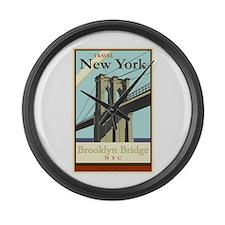 Travel New York Large Wall Clock