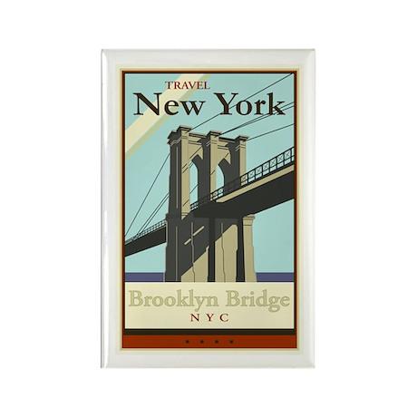 Travel New York Rectangle Magnet