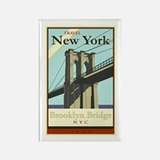 Travel New York Rectangle Magnet