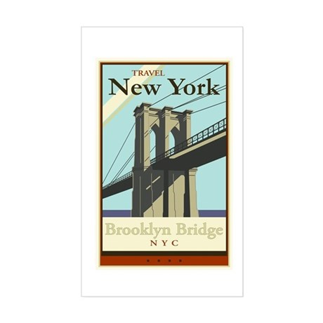 Travel New York Rectangle Sticker