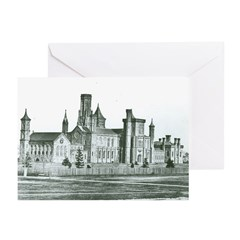 Castle South 1858 Greeting Cards (Pk of 20)