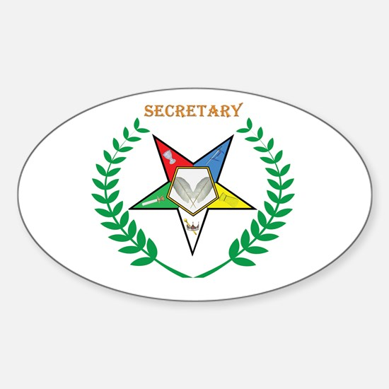 OES Secretary Oval Decal