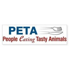 PETA Bumper Car Sticker