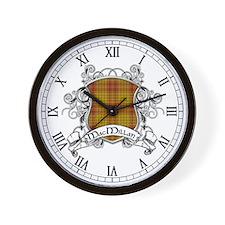 MacMillan Tartan Shield Wall Clock