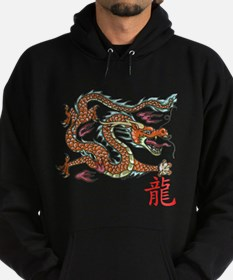 Unique Dragon and chinese symbols Hoodie (dark)