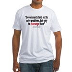 Ronald reagan quote Fitted T-Shirt