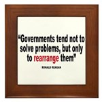 Ronald reagan quote Framed Tile