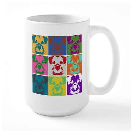 Border Terrier a la Warhol Mu Large Mug