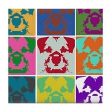 Border Terrier a la Warhol Mu Tile Coaster