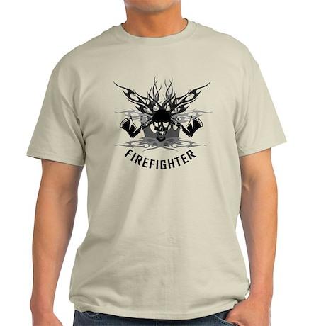 Firefighter Skull/Crossbones Light T-Shirt