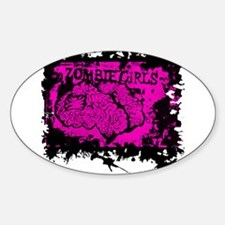 Zombie Girls Oval Decal