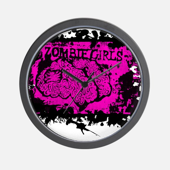 Zombie Girls Wall Clock