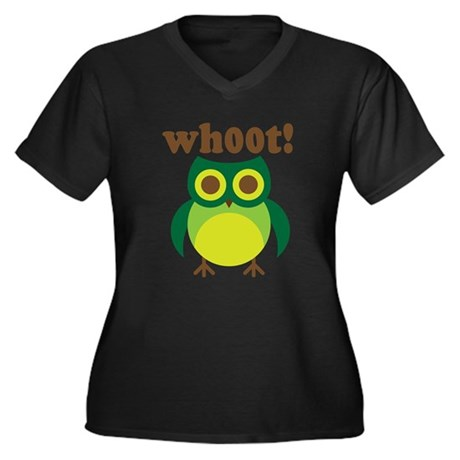 wh00t Goes The Owl Women's Plus Size V-Neck Dark T