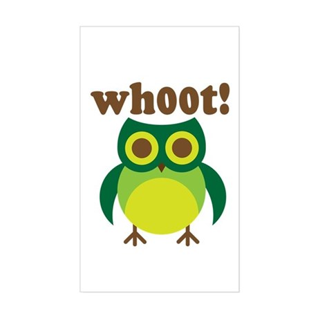 wh00t Goes The Owl Rectangle Sticker