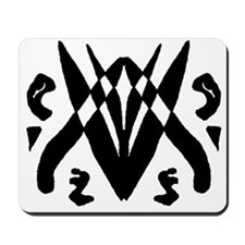 """Ink Blot """"Space Invaders"""" Mousepad"""