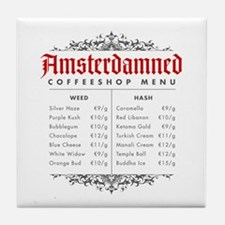 Amsterdamned menu Tile Coaster