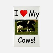 Love My Cows Rectangle Magnet
