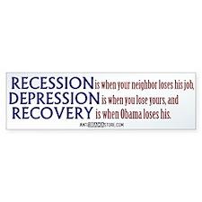 Recession, Depression & Recovery Bumper Bumper Sticker