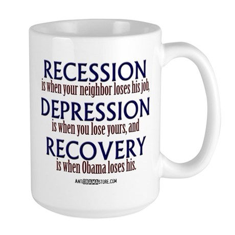 Recession, Depression & Recovery Large Mug
