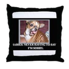 rabies Throw Pillow