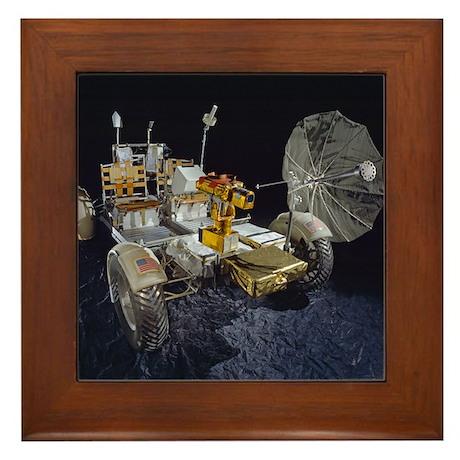 Lunar Roving Vehicle Framed Tile
