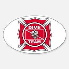 Rescue Dive Team Oval Decal