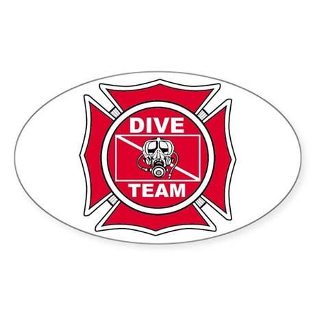Rescue Dive Team Oval Sticker