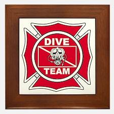 Rescue Dive Team Framed Tile