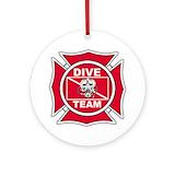 Rescue diver Ornaments