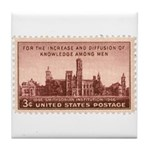 Smithsonian 3 Cent Stamp Tile Coaster