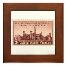Smithsonian 3 Cent Stamp Framed Tile