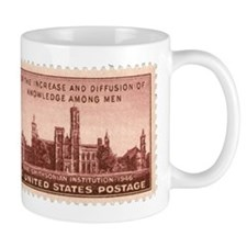 Smithsonian 3 Cent Stamp Mug