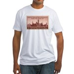 Smithsonian 3 Cent Stamp Fitted T-Shirt
