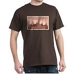 Smithsonian 3 Cent Stamp Dark T-Shirt