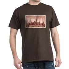 Smithsonian 3 Cent Stamp Dark T-Shirt