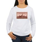 Smithsonian 3 Cent Stamp Women's Long Sleeve T-Shi